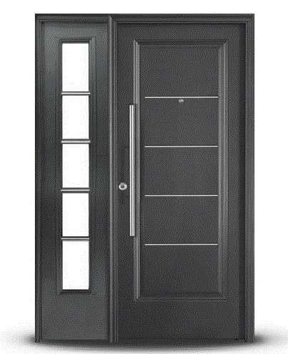 Herreria de producci n cr aluminios fabrica de for Modelos de puertas de metal para casas