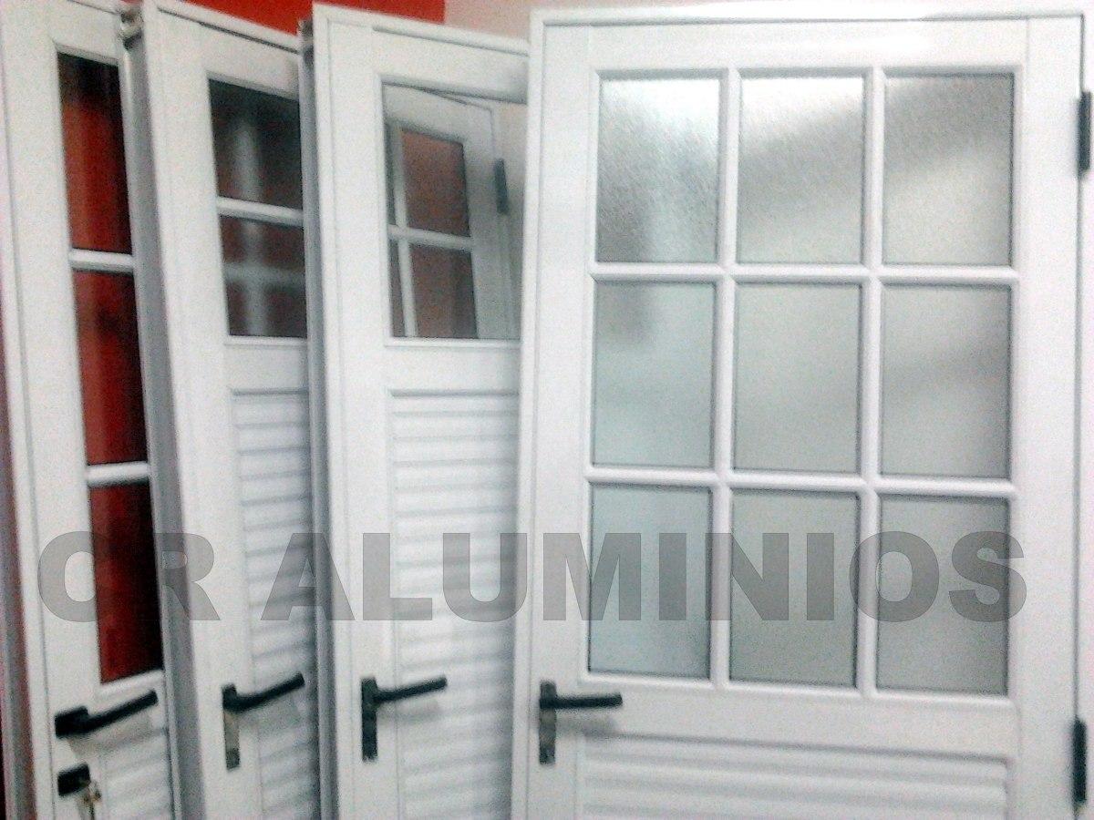 Puerta aluminio blanco 80x200 for Aberturas de aluminio blanco precios rosario