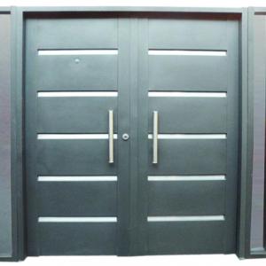 Fabrica de puertas y portones de chapa cr aluminios for Fabrica de puertas