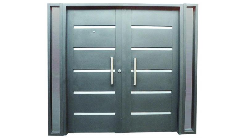 Fabrica de puertas de chapa for Puerta y media de aluminio