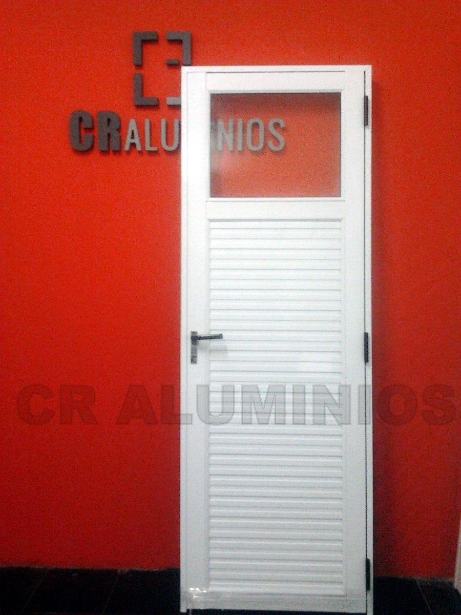 Puerta aluminio blanco 80x200 for Puertas y ventanas de aluminio blanco precios