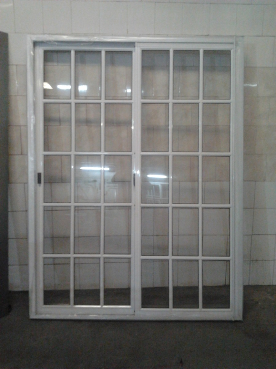 Ventana puerta balc n vidrio repartido x 200 - Cierres para puertas de aluminio ...