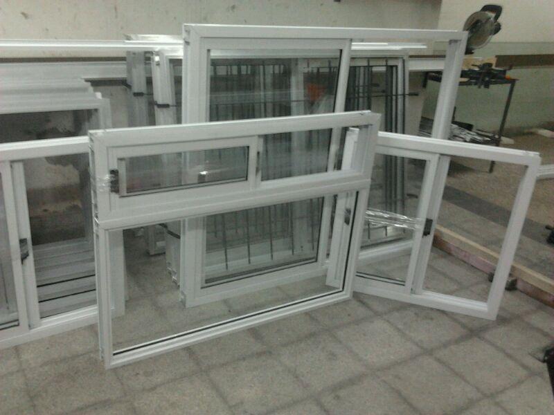 Ventana puerta balc n vidrio repartido x 200 for Ventanas aluminio blanco precios