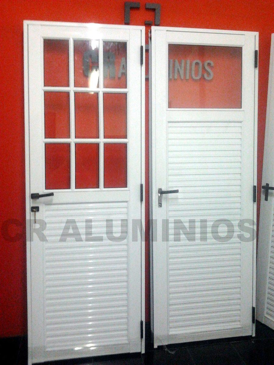 puerta aluminio blanco 80x200