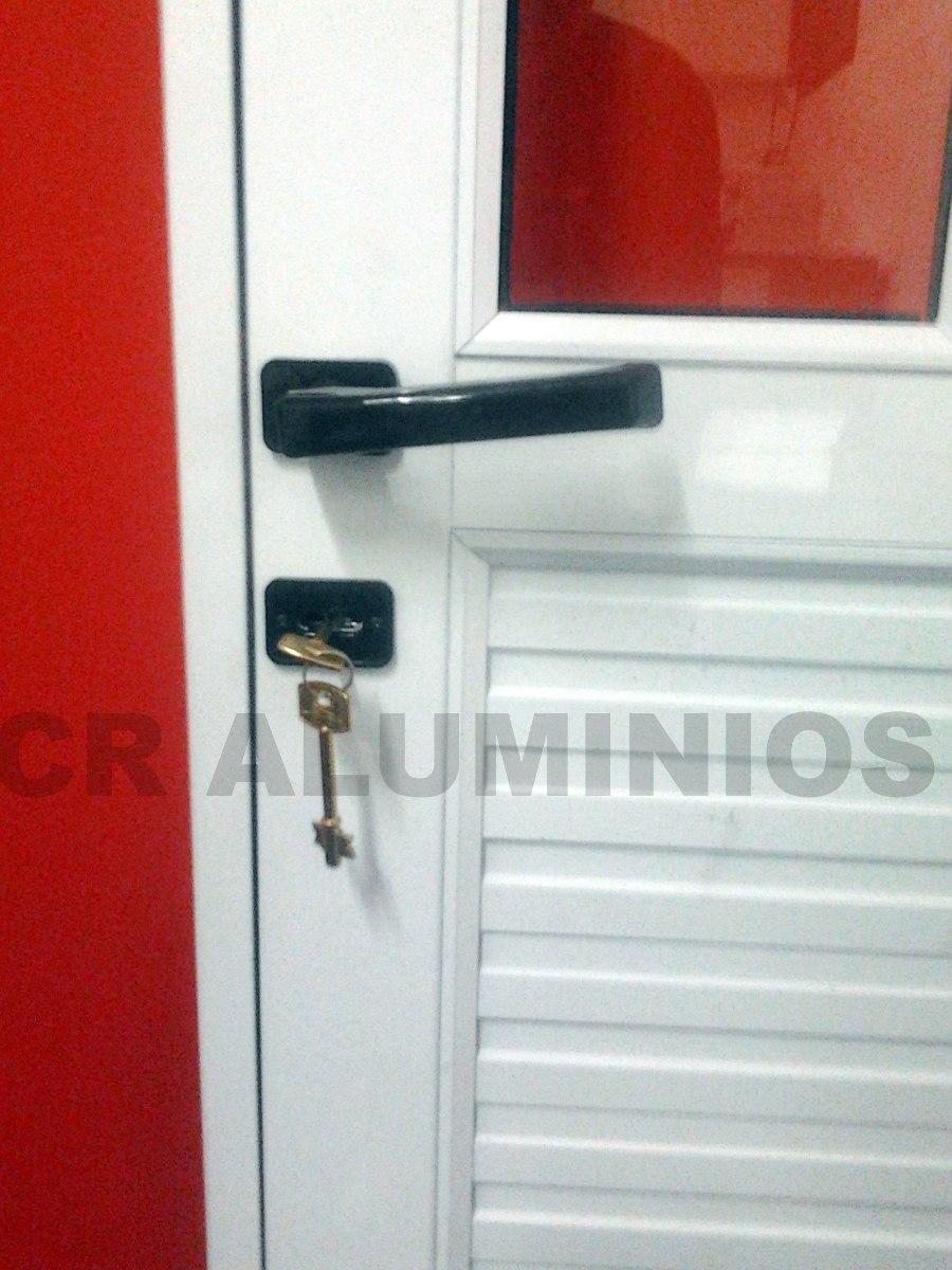 Puerta aluminio blanco 80x200 - Medida de puertas ...